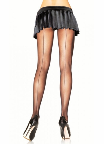 Sheer Pantyhose with Back Seam