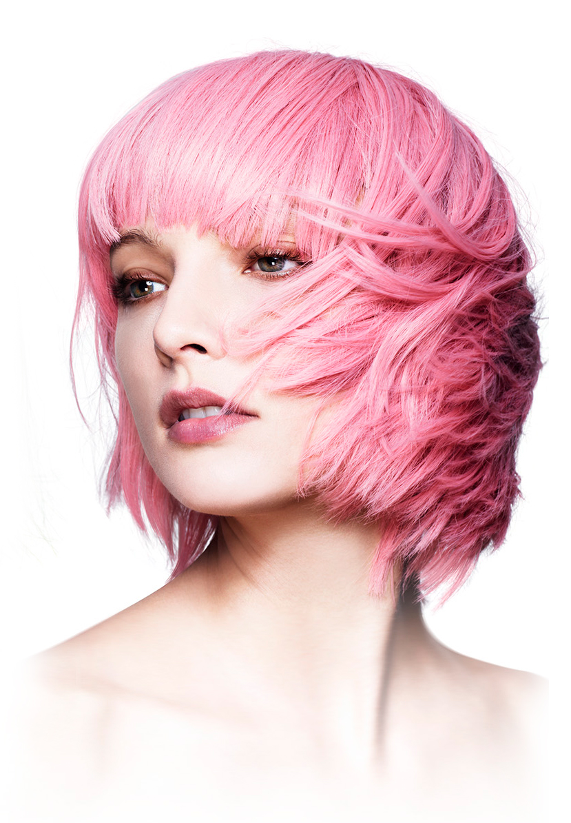 Short Bob With Fringe Wig Mia In Pastel Pink