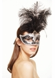 Showgirl Glitter Mask with Feathers inset 4