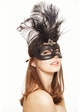 Showgirl Glitter Mask with Feathers inset 2