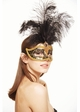Showgirl Glitter Mask with Feathers inset 3