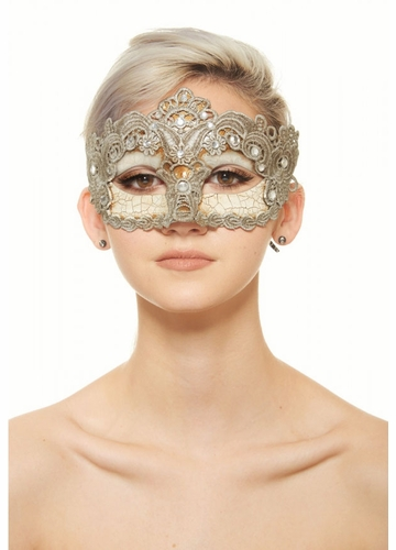 Skull and Lace Masquerade Mask