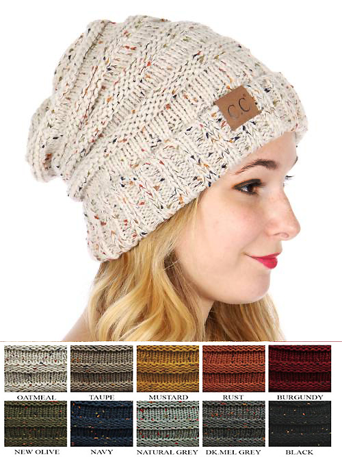 Slouchy Confetti Knit Beanie Hat from CC Brand e3487c5c136