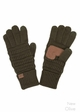 Solid Color Groove Knit CC Gloves inset 4