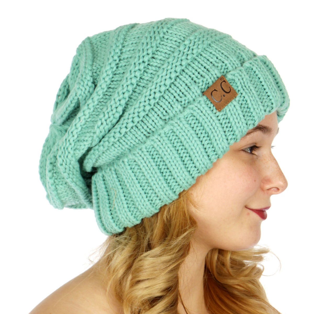 40992027aa7 ... Solid Color Slouchy CC Beanie Hat inset 4