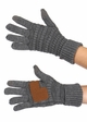 Solid Metallic Yarn Groove Knit CC Gloves inset 1