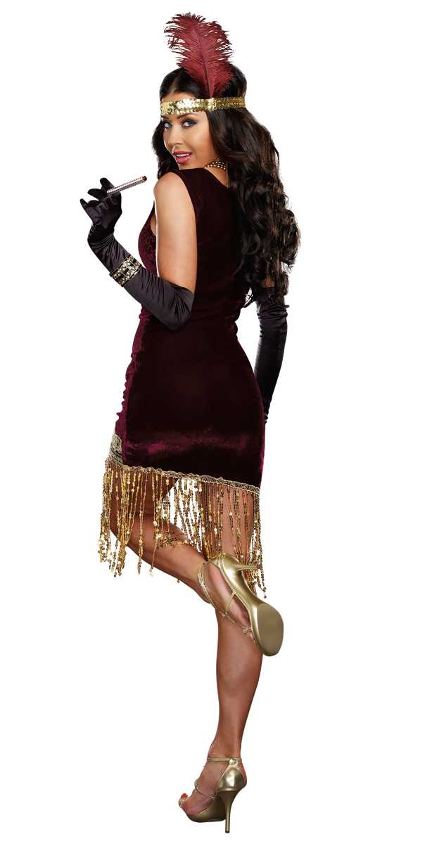 Sophisticated Lady Flapper Halloween Costume