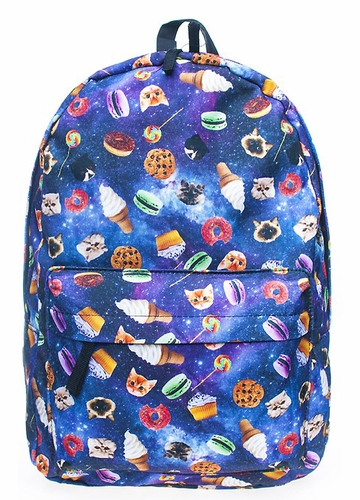 Space Kittens and Snacks Backpack