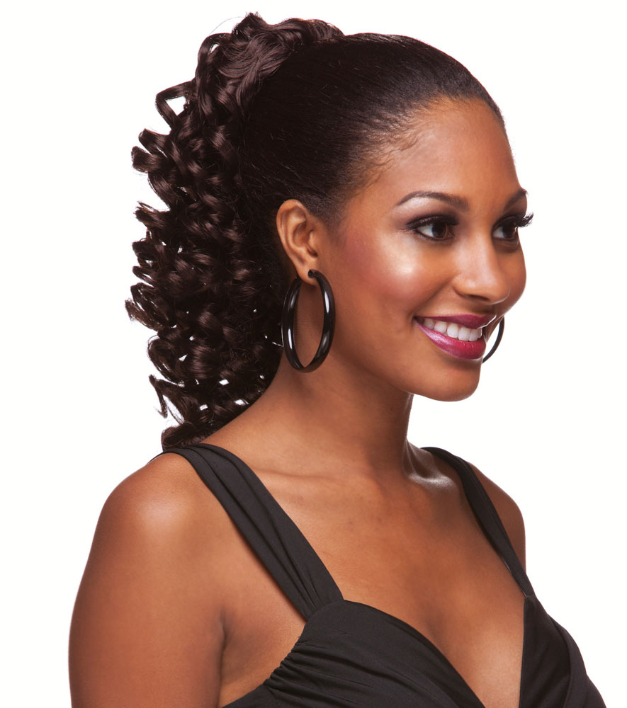 Wedding Hairstyle Ringlets: Spiral Curl Ringlet Draw String Hair Piece