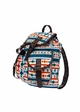 Square Aztec Print Canvas Backpack by Zohra inset 1