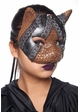 Steampunk Kitten Mask with Leather and Lace inset 1