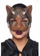 Steampunk Kitten Mask with Leather and Lace inset 3