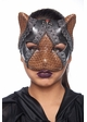 Steampunk Kitten Mask with Leather and Lace inset 2