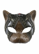 Steampunk Kitten Mask with Leather and Lace inset 4