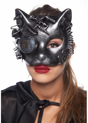 Steampunk Kitten Masquerade Mask