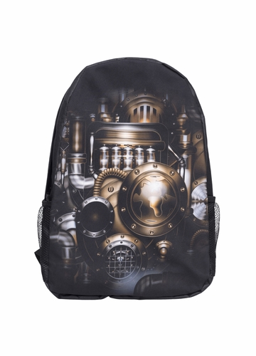 Steampunk Print Backpack by Zohra