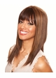 Straight Long Human Hair Blend Wig inset 1