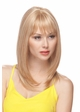 Straight Long Human Hair Blend Wig inset 3