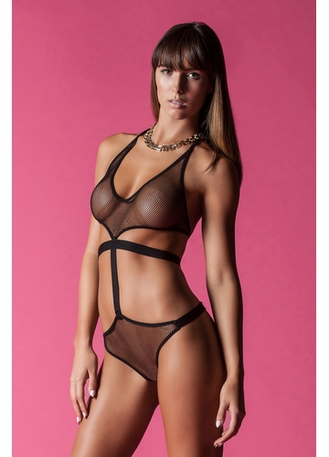 Strappy Fishnet Bodysuit