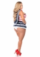 Stripe Sailor Pinup Corset Costume up to size 6X inset 1