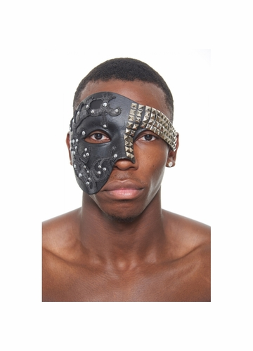 Studs and Lace Mask