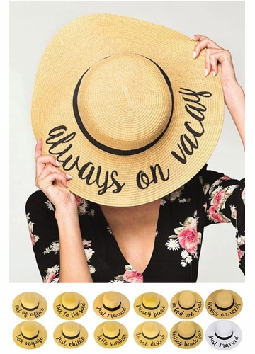 Summer Straw Hat with Logo by CC Brand