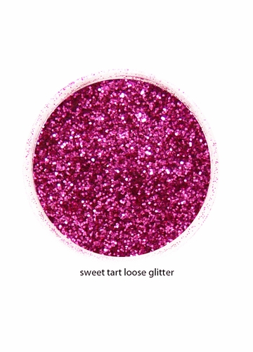 Sweet Tart Fuchsia Color of Luxe Glitter Powder -Eyeliner & Eye Makeup