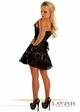 Tan Satin Corset Dress with Lace Overlay inset 1