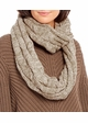 Taupe and Beige CC Brand Two Tone Infinity Scarf inset 2