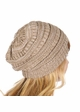 Taupe and Beige Two Tone CC Beanie Hat inset 2