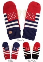 Team US Patriotic Mittens Gloves