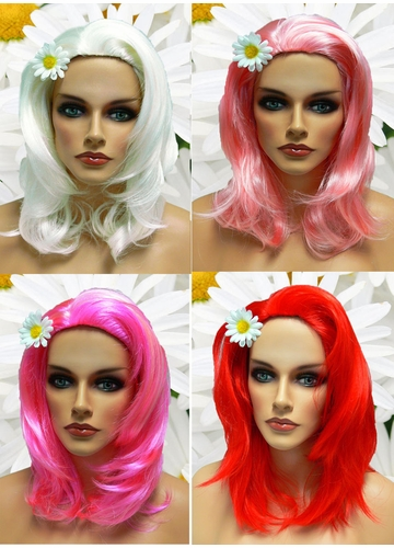 Textured Glamour Wig in Pink Shades