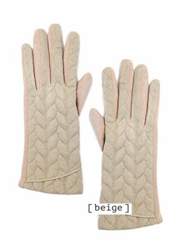 Textured Knit Gloves