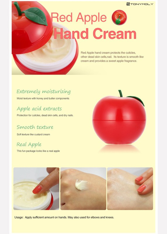 Image result for tonymoly red apple hand cream