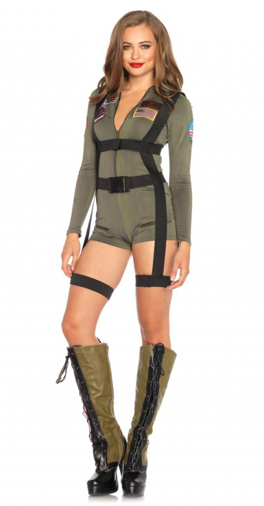 top gun official romper womens halloween costume