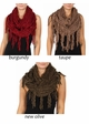 Twisty Chenille Yarn Infinity CC Scarf with Fringe  inset 2