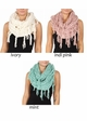 Twisty Chenille Yarn Infinity CC Scarf with Fringe  inset 3