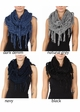 Twisty Chenille Yarn Infinity CC Scarf with Fringe  inset 4