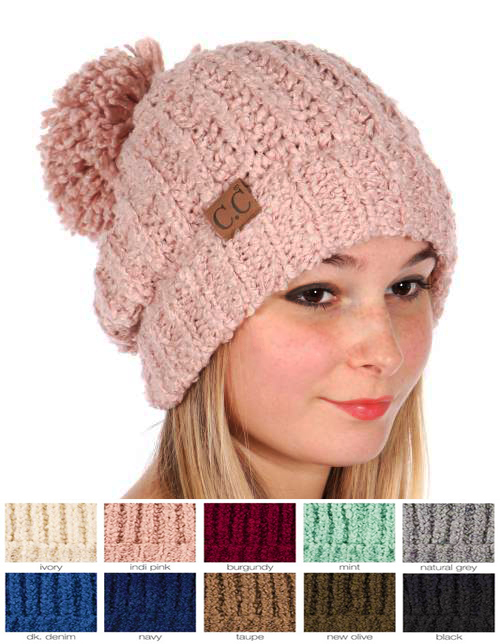 27abbcf7b Twisty Chenille Knit CC Beanie Hat
