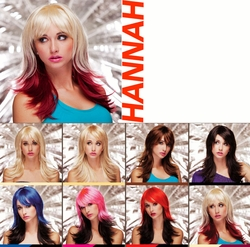 Hannah- Two Color Textured Wig