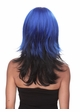 Two Color Textured Wig Hannah in Blue and Black inset 1