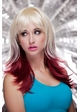 Two Color Wig Hannah in Vanilla and Maroon inset 1