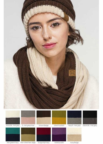 Two Tone CC Scarf