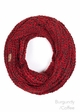 Two Tone Chunky Infinity Scarf by CC Brand inset 1