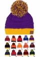 Two Tone College Color CC Beanie Hat inset 1
