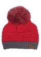 Two Tone College Color CC Beanie Hat inset 4