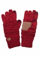 Two Tone Knit CC Gloves inset 2