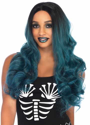 Two Tone Ombre Teal Wig