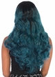 Two Tone Ombre Teal Wig inset 1