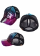 Two Tone Sequin Ponytail Baseball Hat from CC Brand inset 1